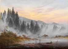 Caspar David Friedrich, Tageszeitenzyklus, in the morning.