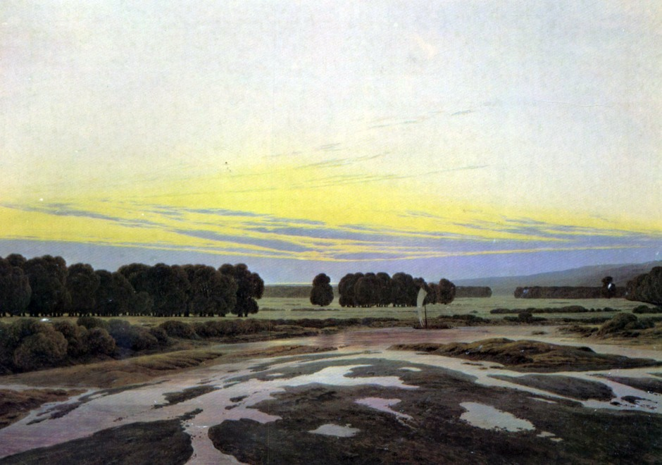 Caspar David Friedrich, evening.