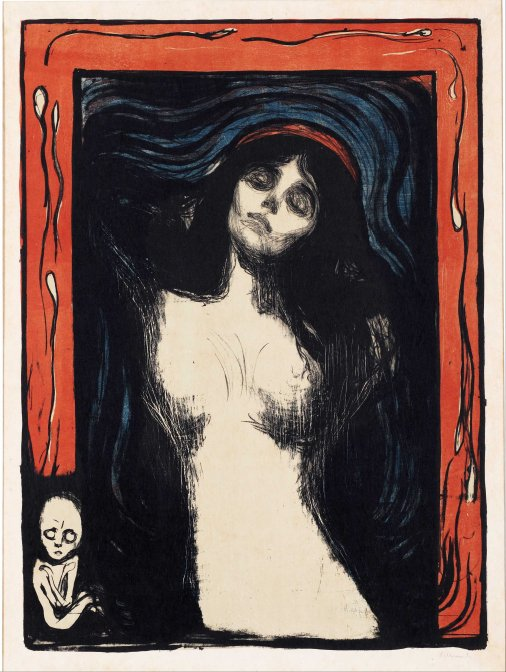 Edvard Munch, Madonna, incisione.