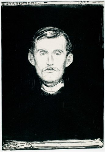 Edvard Munch, autoritratto.