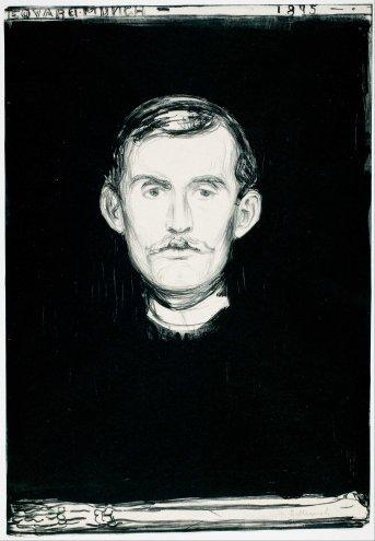 Edvard Munch, autoritratto.