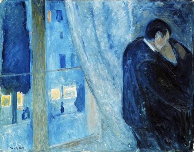 Edvard Munch, bacio dalla finestra.