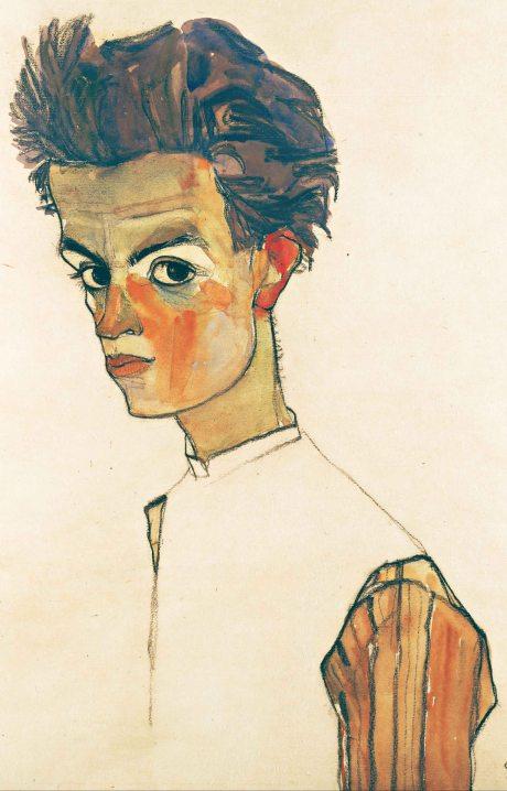 Egon Schiele, Autoritratto.