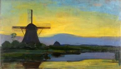 Piet Mondrian, mulino Oostzijde di notte.