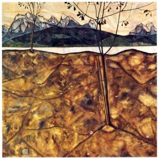 Schiele_-_Landschaft_mit_zwei_Bäumen_-1913