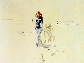 Salvador Dalì, Donna con testa di fiori.