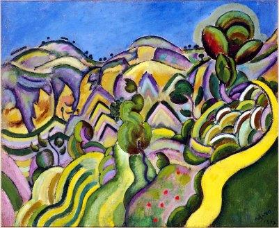 Joan Mirò, landscape.