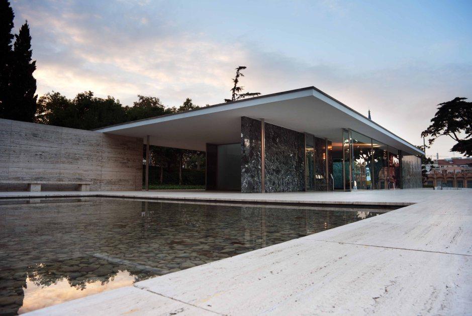 Il padiglione della Germania di Ludwig Mies Van Der Rohe.