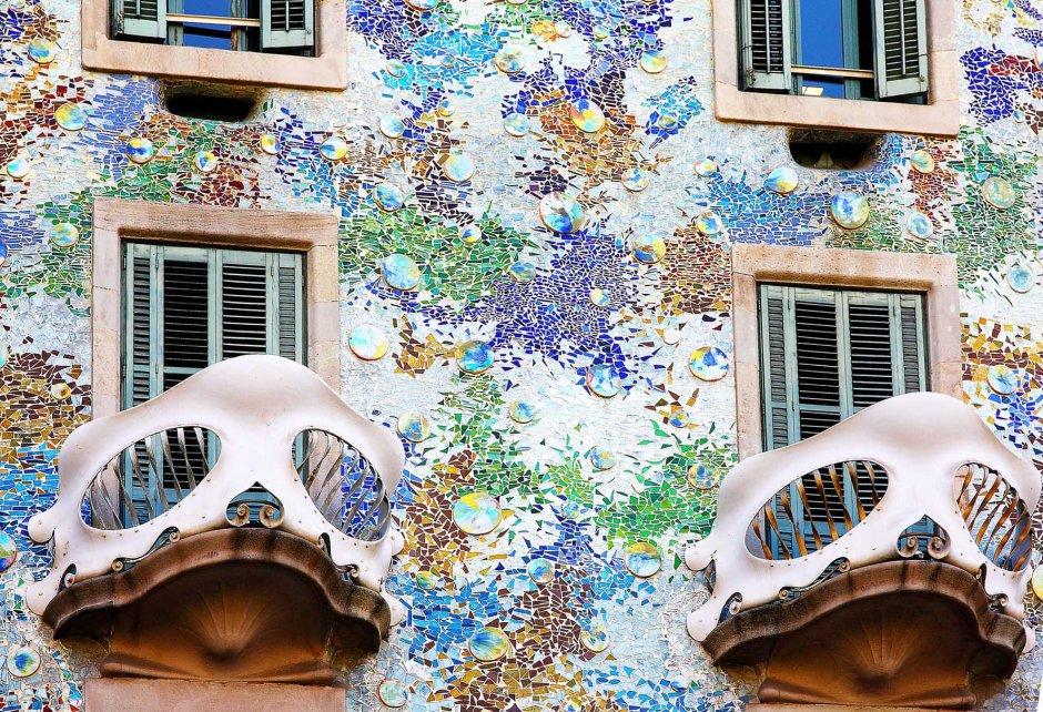 Antoni Gaudì, la facciata di casa Batllò.