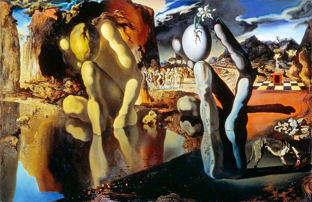 Salvador Dalì, La metamorfosi di Narciso.