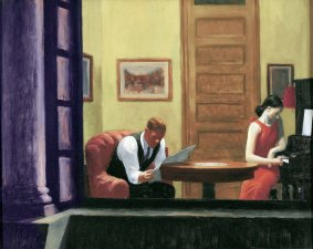 Edward Hopper, Room in New York.