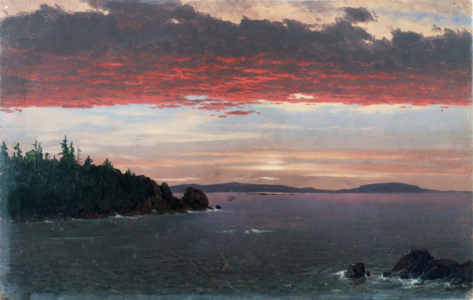 Frederic Edwin Church, Schoodic Peninsula from Mount Desert at Sunrise.