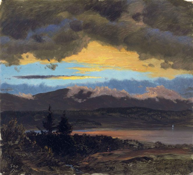 Frederic Edwin Church, Tramonto lungo la Hudson Valley (New York).
