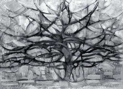 Piet Mondrian, albero grigio.