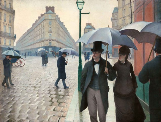 Gustave Caillebotte, Strada parigina.