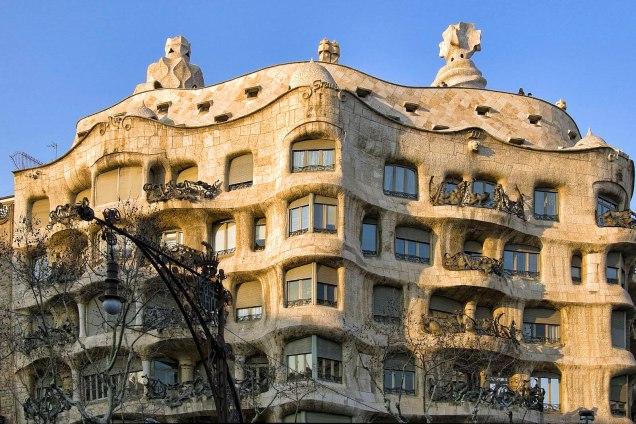 Barcellona, casa Milà di Antoni Gaudi.