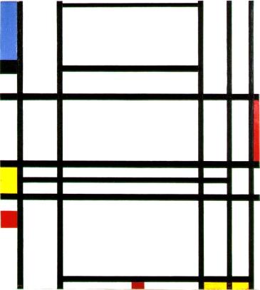Piet Mondrian, composizione n. 10.