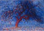 Piet Mondrian, albero rosso di sera.