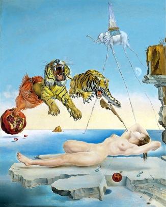 Salvador Dalì, Sogno causato dal volo di un'ape intorno a una melagrana un attimo prima del risveglio.
