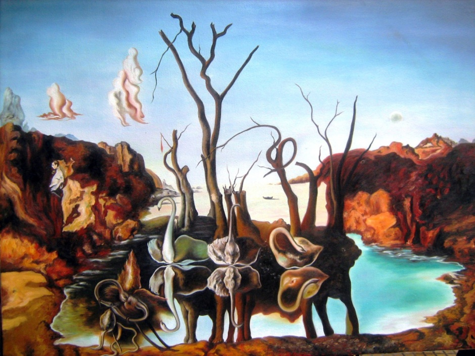 Salvador Dalì, Cigni che riflettono elefanti.