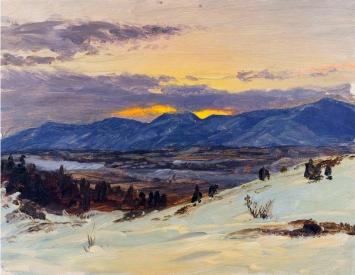 Frederic Edwin Church, Crepuscolo invernale in Olana.