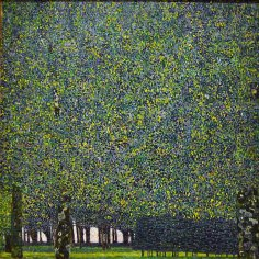 Gustav Klimt, the park.