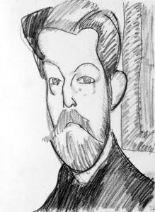 Amedeo Modigliani, Tete de Paul Alexandre de trois quarts.