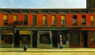 Edward Hopper, early sunday morning.