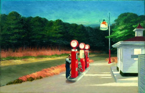Edward Hopper, gas.