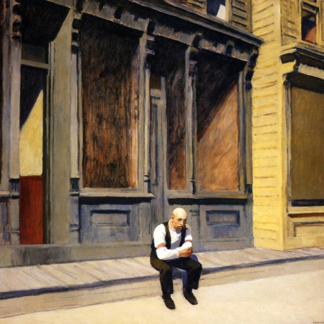 Edward Hopper, sunday.