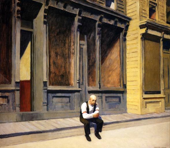 Edward Hopper, sunday.