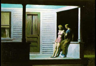 Edward Hopper, summer evening.