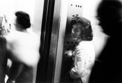 Robert Frank, elevator, Miami Beach.