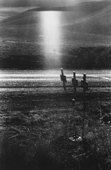 Robert Frank, crosses on scene of highway accident, Idaho.