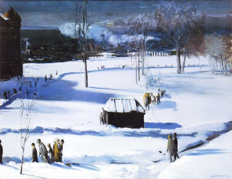 George Bellows, blue snow.