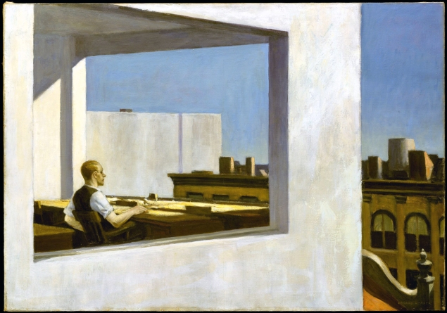 Edward Hopper, office in a small city.
