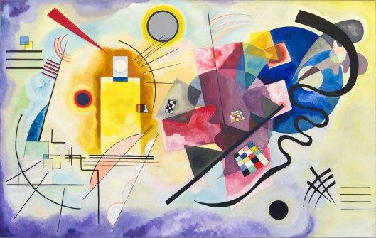 Vassily Kandinsky, Giallo, rosso e blu, 1925
