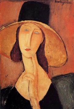 Amedeo Modigliani, donna con il cappello.