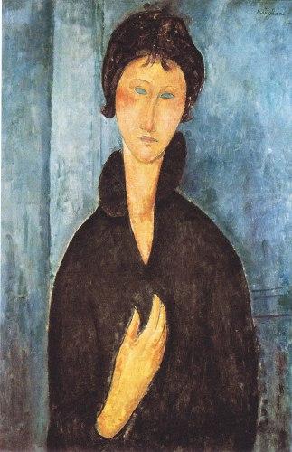 Modigliani, Donna con gli occhi azzurri.