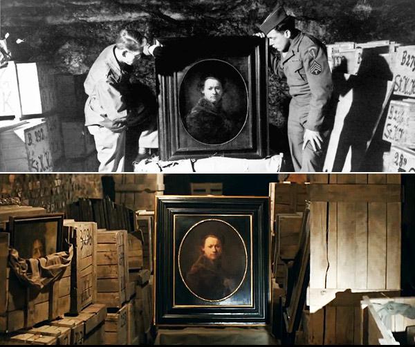 Il ritrovamento dell'autoritratto di Rembrandt sia nel film sia nella realtà.