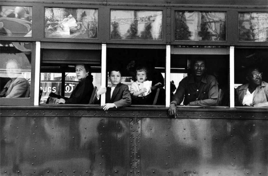 Robert Frank, Trolley- New Orléans.