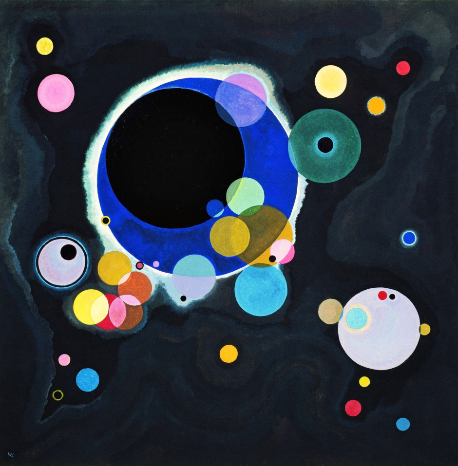 Vassily Kandinsky Alcuni cerchi opera