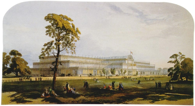 Great exhibition di Londra, 1851, particolare del Crystal Palace.