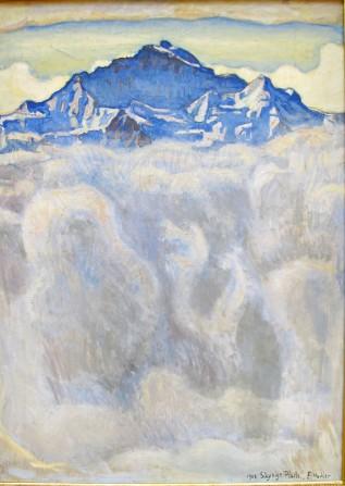 Ferdinand Hodler, lo Jungfrau tra la nebbia.