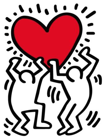 Keith Haring, heart.