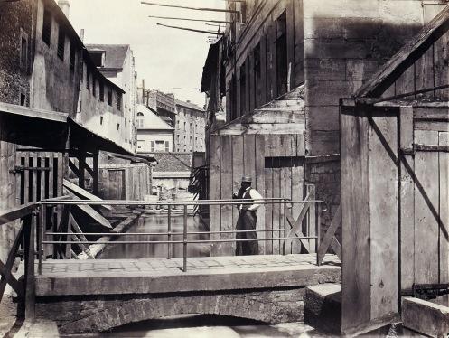 Rive del canale Bièvre dal fondo di rue des Gobelins.