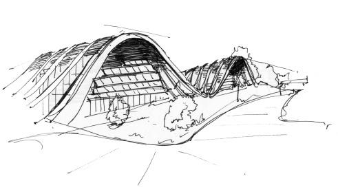 Renzo Piano, schizzo del Zentrum Paul Klee