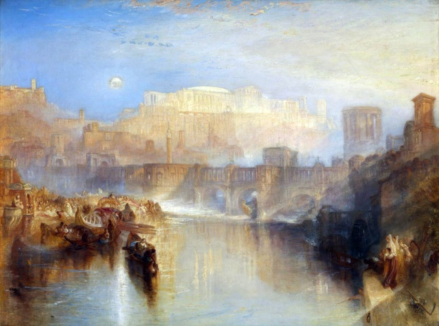 J. M. W. Turner, Ancient Rome; Agrippina Landing with the Ashes of Germanicus.