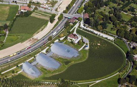 Il Zentrum Paul Klee dall'alto.