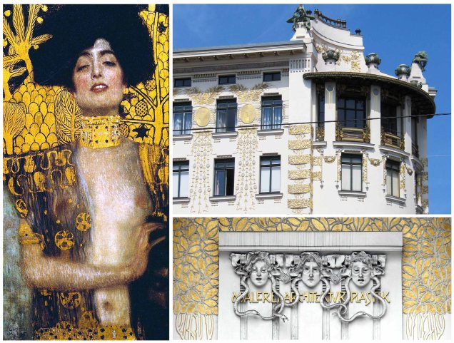 Jugendstil: Giuditta di Gustav Klimt, palazzo di Otto Wagner, bassorilievo di Joseph Maria Olbrich.